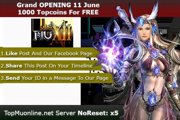 TopMuOnline | Season 12, NoReset x5, Feature 3D Camera - OPENING 11 June! 11/06/2020 1000-2