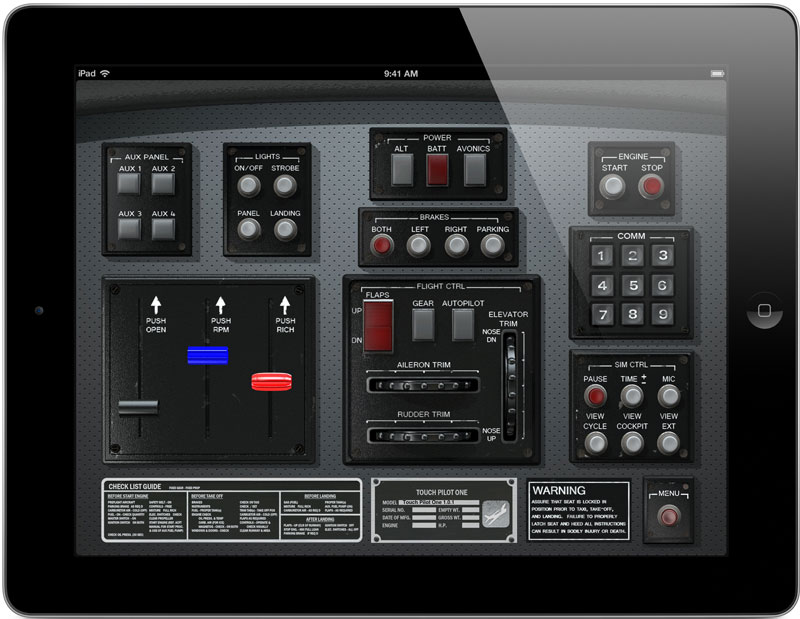Touch Pilot One para Android e iOs Ipad_800