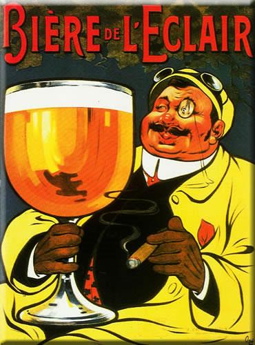 Les affiches du temps passé quand la pub s'appelait réclame .. - Page 3 Plaque-pub-biere-eclair-4