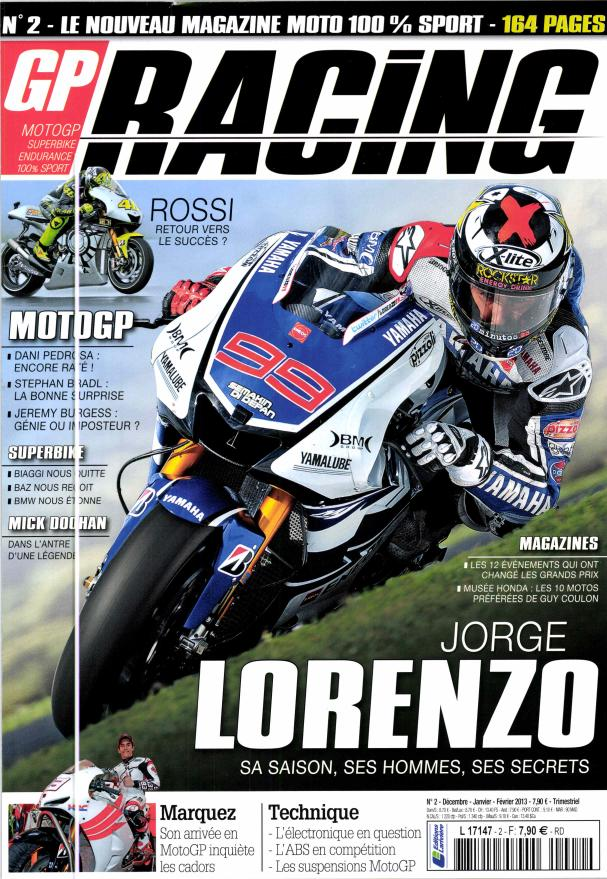 Livre, Magazine, En kiosque, Presse Spécialisée, Canard Moto, Bouquin  - Page 3 Gp-racing_n-2_juillet-2012