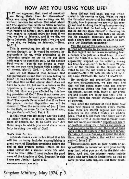 Béthel des Témoins de Jéhovah - Page 2 1974Kingdom%20MinistryMaypg3
