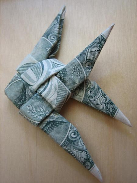TOOZDAY HAI MOT Dollarbillorigami4