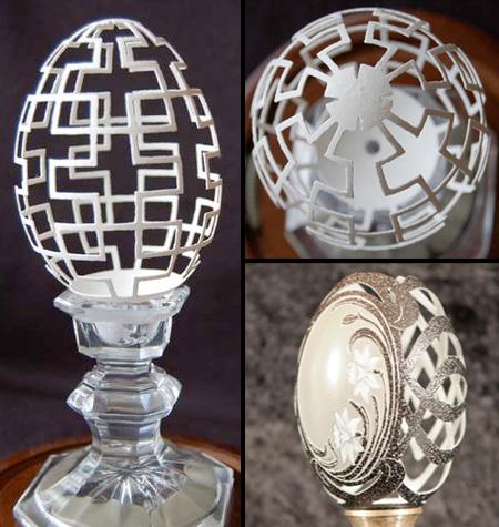 أشكال رائعه مصنوعه من قشور البيض (صور)  Egg08