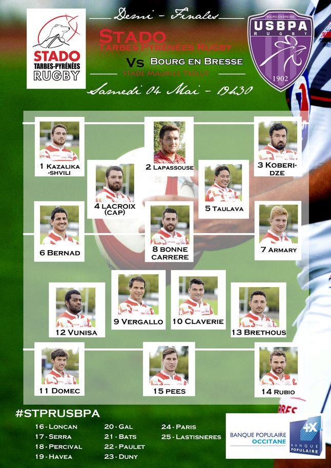 1/2 finale aller > Stado / Bourg-en-Bresse COMPO_EQUIPE_resultat