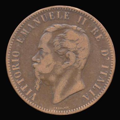 Italia, 10 centésimos, 1866. Italy16_01