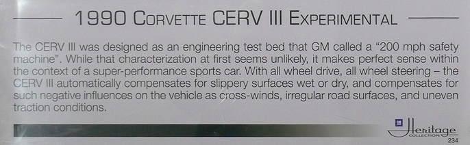 1990 Corvette Serv III Experimental Ct900800