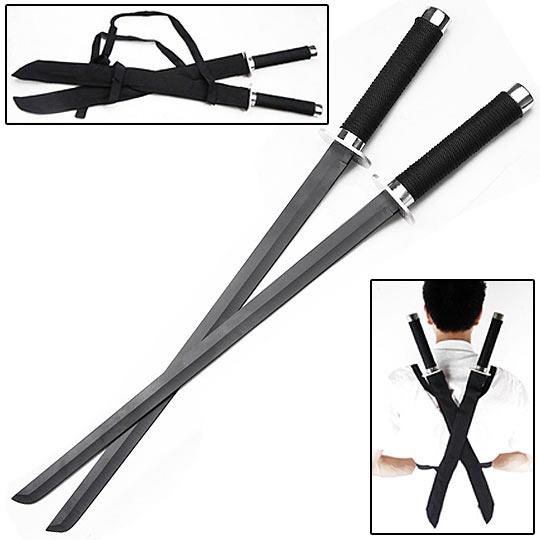 Chika Misaki Ninja_sword_set_black_blades