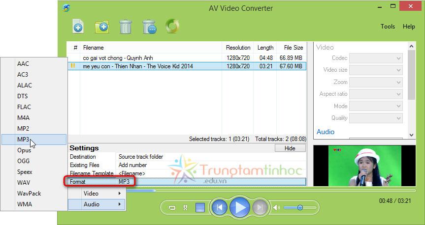 Tách Lấy Tiếng Từ Video Chon-format-cho-file-mp3-can-tach-tieng-tu-video