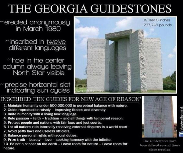 The United States of the Solar System, A.D. 2133 (Book Seven and the Seven Seals) - Page 35 Georgia%20guidestones%203%20(1)