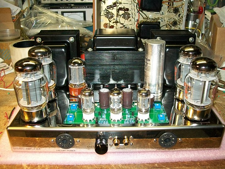 Just finished another ST-120 KT88 tube amplifier St120120452012a
