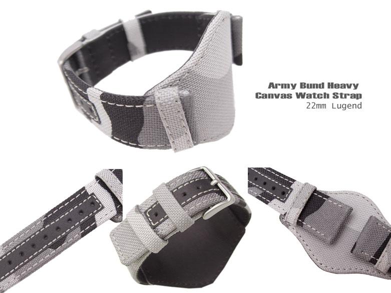 FS: Bunds 20mm, 22mm Nylon & Camouflage Canvas Strap for Military Watch  BUN2220007RFW