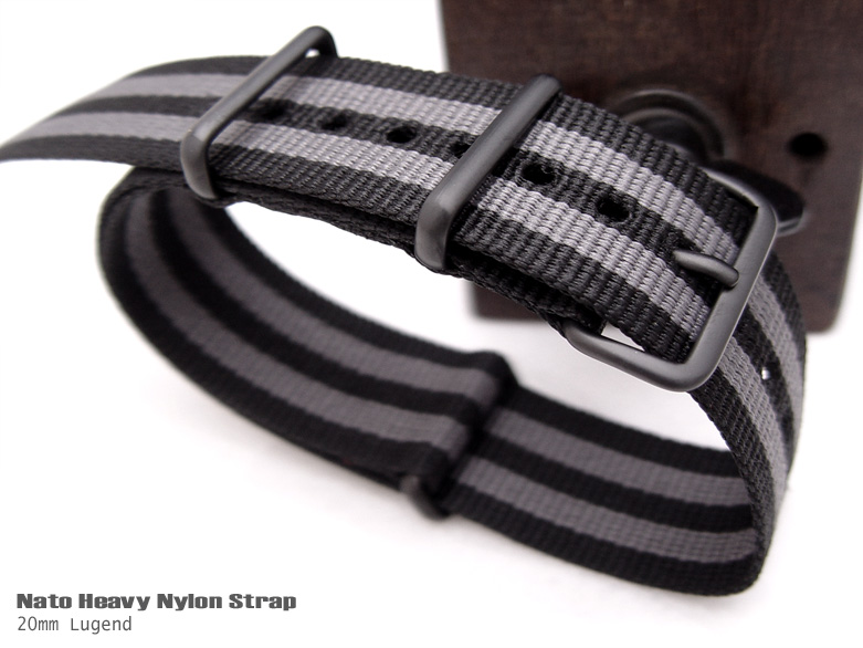 FS: NATO Ultrasonic Weld Heavy Nylon - IP Black buckle - $19.99up NATO20NyJBBlack-BK