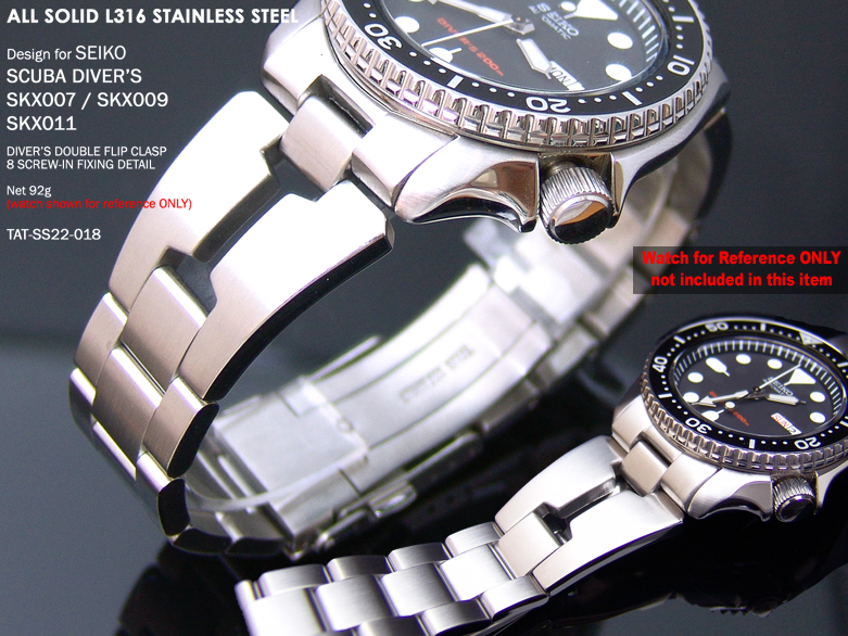 FS: 5 Style Seiko SKX007 Replacement Solid 316L Band + Super Engineer + Double Layer Strap  SS221803B018-1