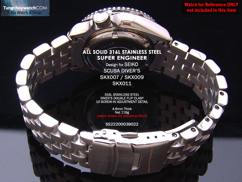 FS: Seiko SKX007, 6309 Solid Curve End Stainless Steel Replacement Band,$49.99 &   SS2220003B022-4