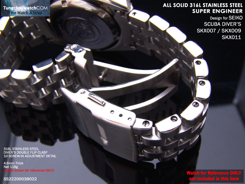 FS: Seiko SKX007, 6309 Solid Curve End Stainless Steel Replacement Band,$49.99 &   SS2220003B022-5