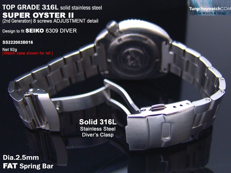 FS: Seiko SKX007, 6309 Solid Curve End Stainless Steel Replacement Band,$49.99 &   SS222003B016-4