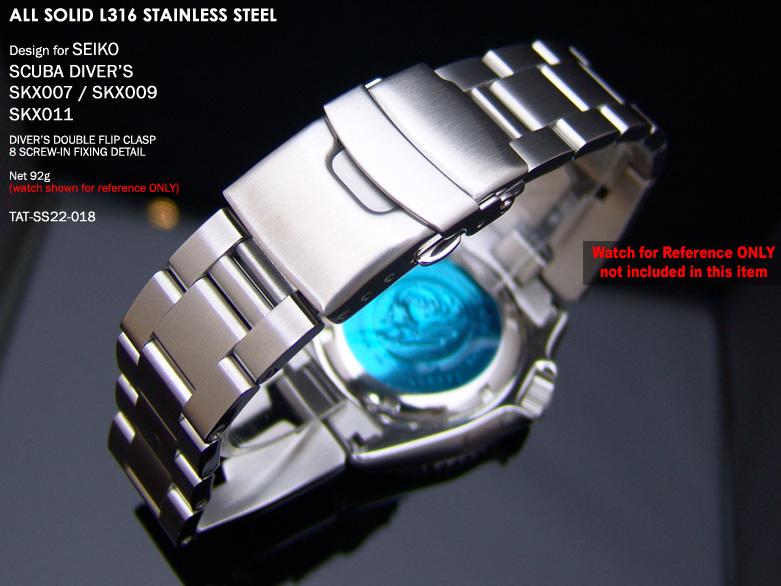 FS: Seiko SKX007 Jubilee & Retro Japan Razor 316L Stainless Steel Replacement Watch Band  TAT-SS22-018-2