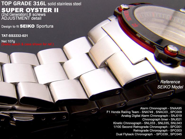 FS: 22mm Replacement Metal Band - Seiko SPORTURA : SNA749, SNAC03, etc $48.99  TAT-SS2223-021-2