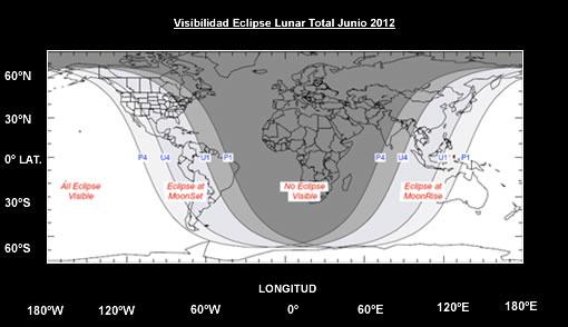 Eclipse de luna del 4 de junio de 2012 Visibilidad-eclipse-lunar-junio-2012
