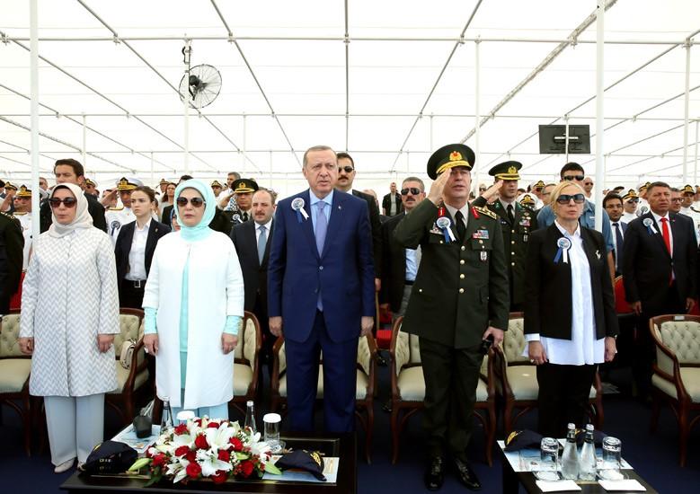 أردوغان يشارك في حفل إنزال الكورفيت المحلي الصنع TCG Kınalıada Ada-class 2017-07-03-gemi-10
