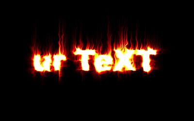 Een vuur tekst Maken Fire_text_6
