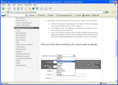 Como instalar o Avast Antivírus? Instalando-avast-4