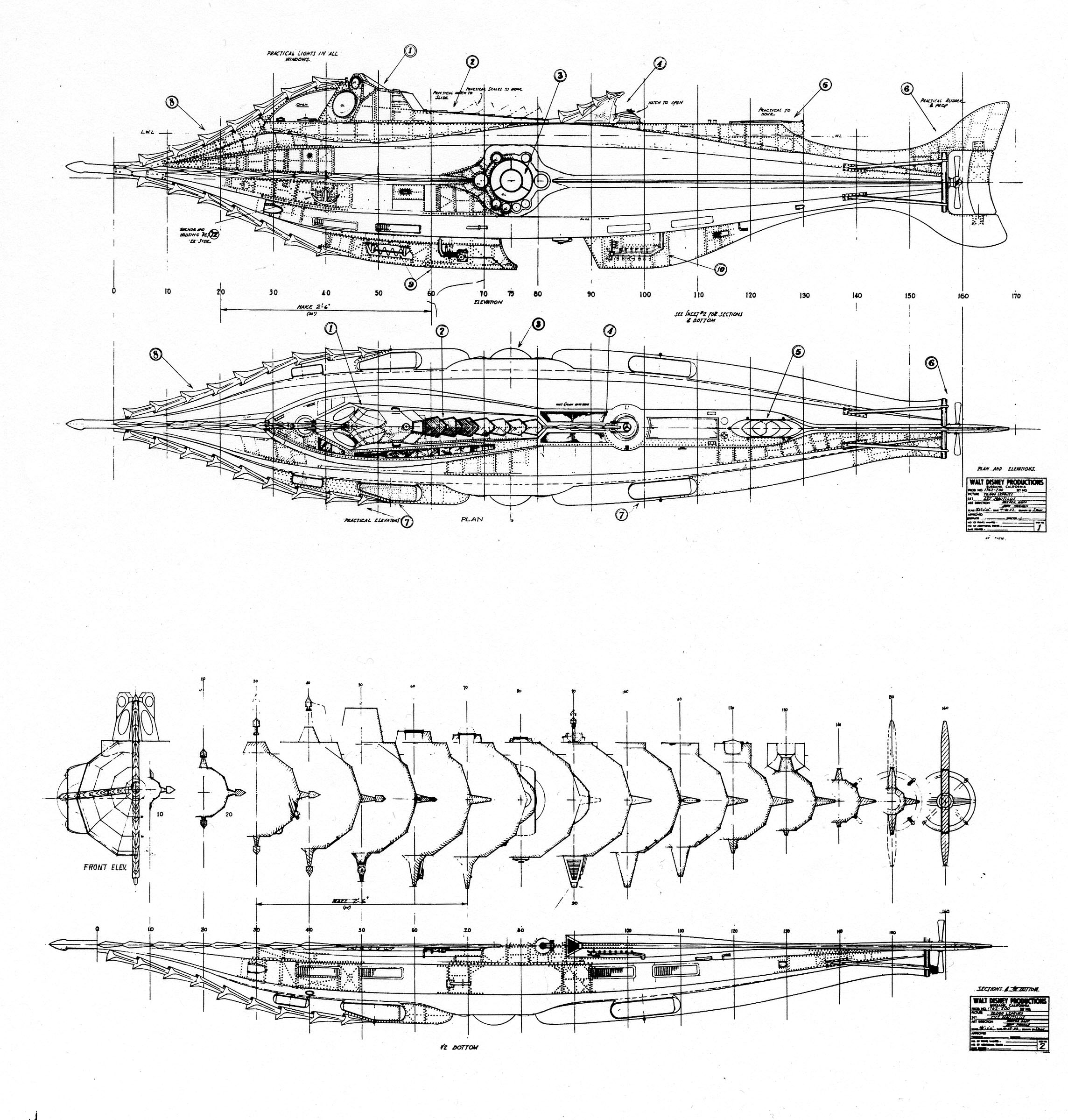 El invencible, The Nautilus. Nautilusentireblueprints
