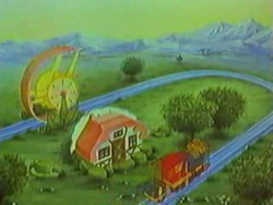 Petits Malins (les) et l'ours Gabby (Bandaï) 1986 - 1987 Train-3-mini