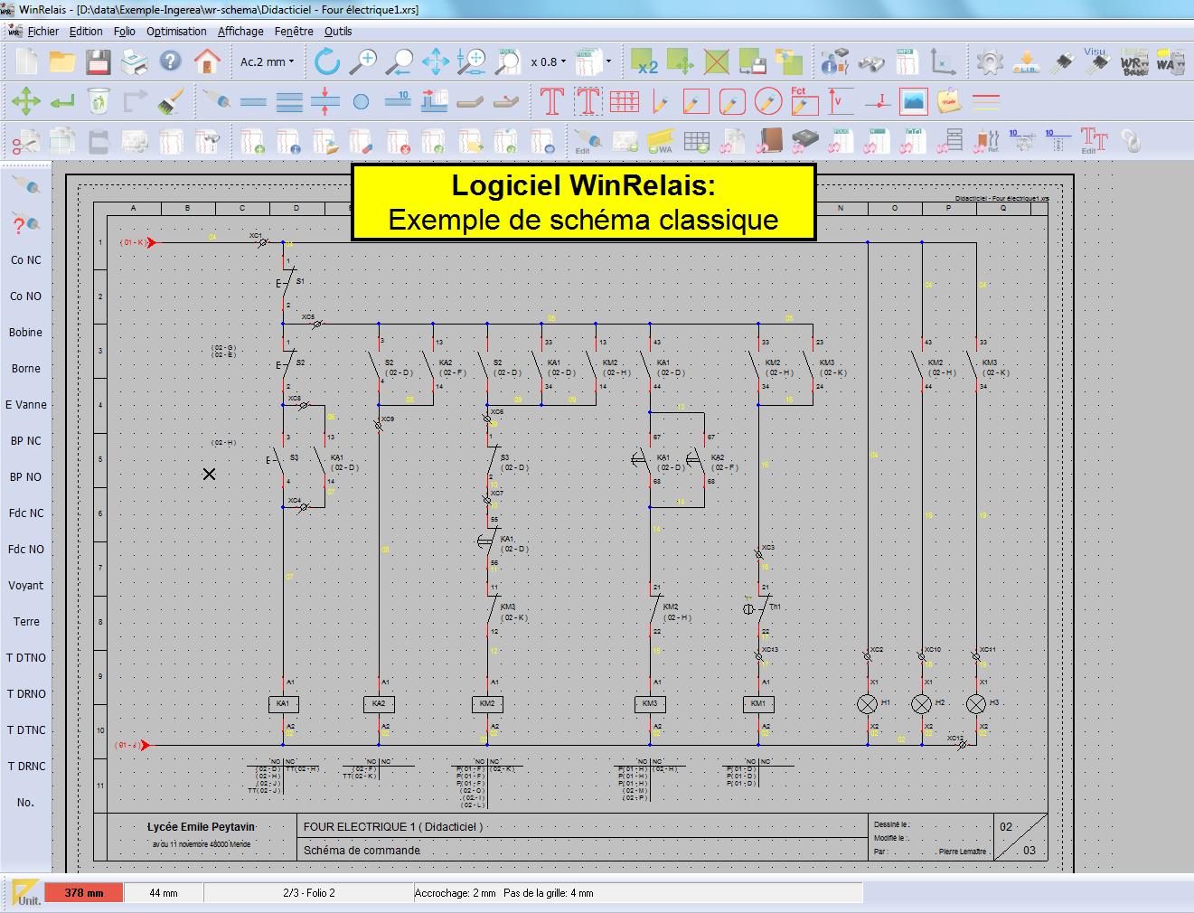 البرنامج المحترف في رسم الدارات الكهربائية والمنطقية WinRelais 1.0 Wr_ecran1_grand