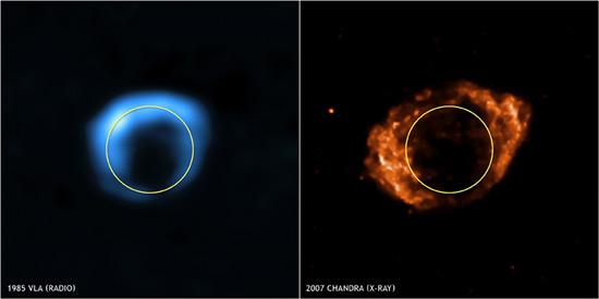 G1.9 , la plus jeune supernova Bd.vla-chandra
