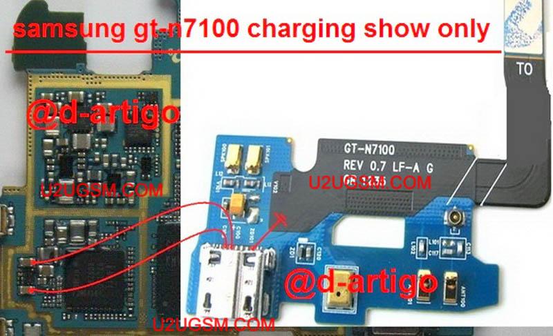 حل مشكلة شحن سامسونج N7100