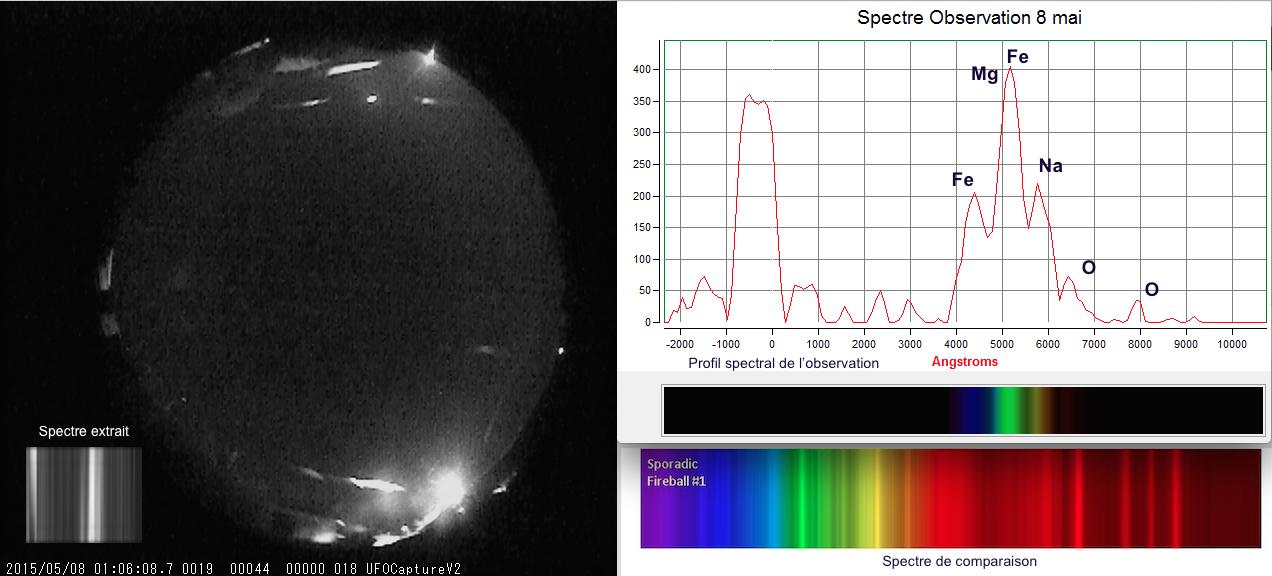 station - Capture d'un Bolide par une station de détection miniature Analyse-spectre-Observation-8-mai