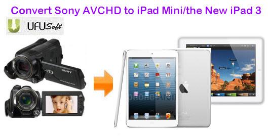 Convert Sony DSC-HX5V/HDR-SR12/NEX-5/HDR-CX350 1080p AVCHD to iPad Mini/iPad 4 Convert-avchd-to-ipad-mini-ipad-3