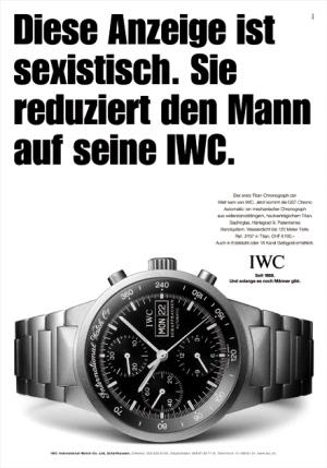 L'humour très subtil des publicités IWC (fausses) Iwc-uhr-wirz-anzeige-sexistisch-sexismus-werbung-mann
