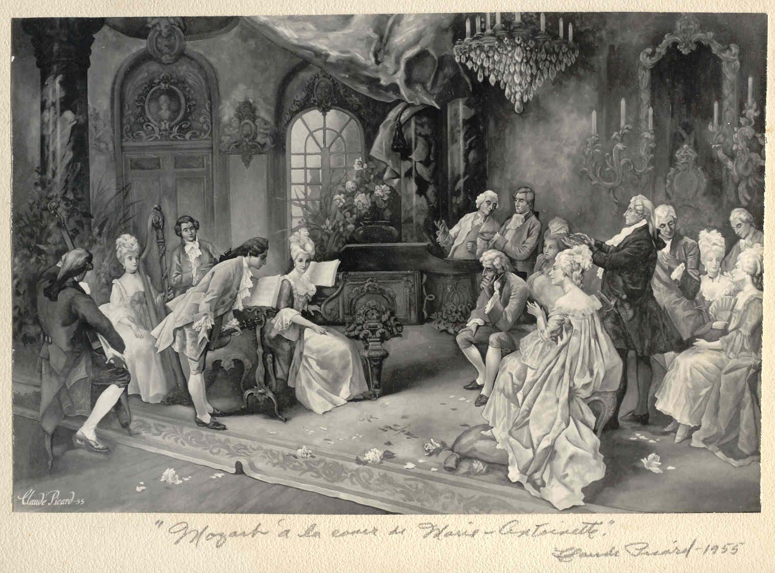 Mozart, ses visites à Paris et Versailles PCP-24