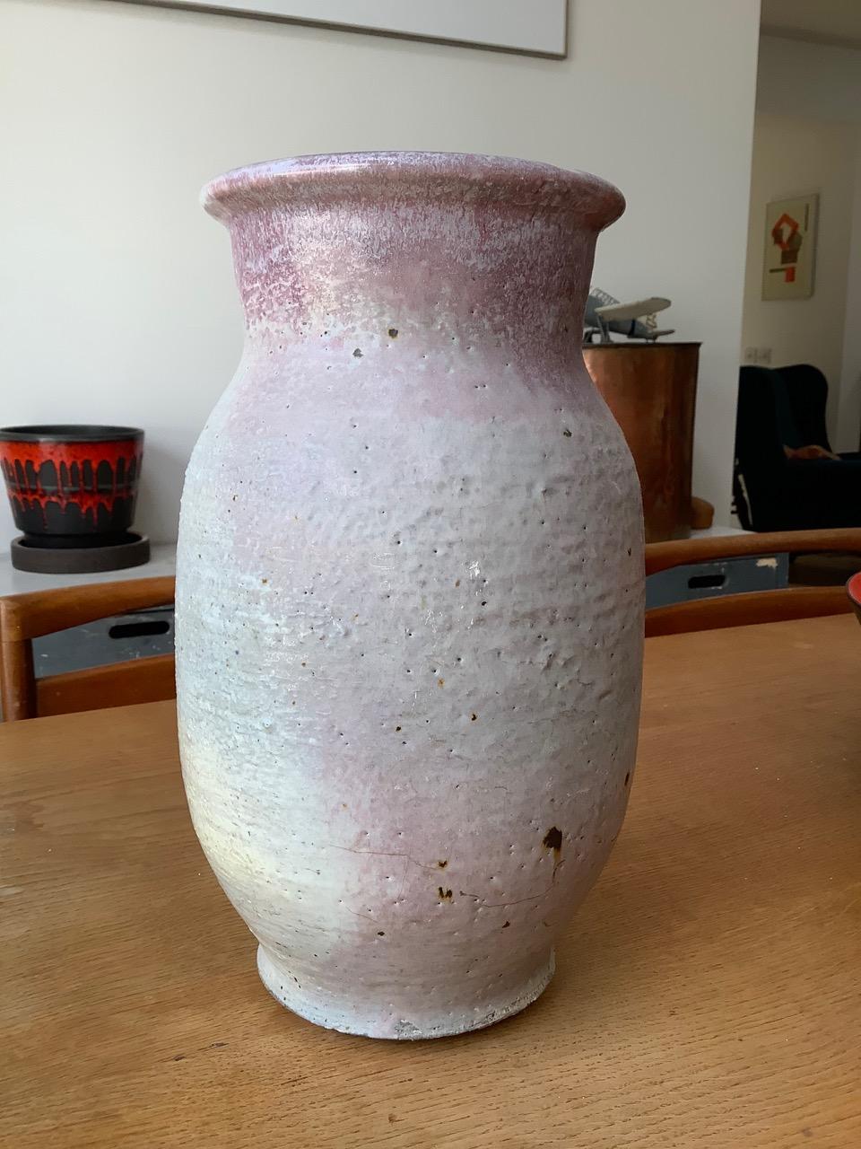 large 12 inch textured beast of a vase. Good clear mark. FR or RR mark Beast1