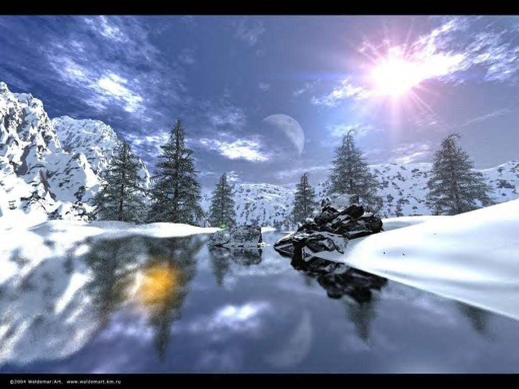 Les Saisons Paysage-d-hiver