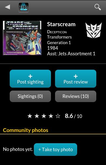 Quoi de neuf en Transformers sur... Consoles, Jeux vidéo, Jeux mobile, etc | Partage de Jeu Web Gratuit + Applications cool (TF ou pas) Screenshot_starscream
