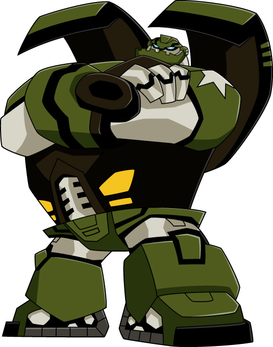 Images du design des personnages de Transformers Animated BULKHEAD