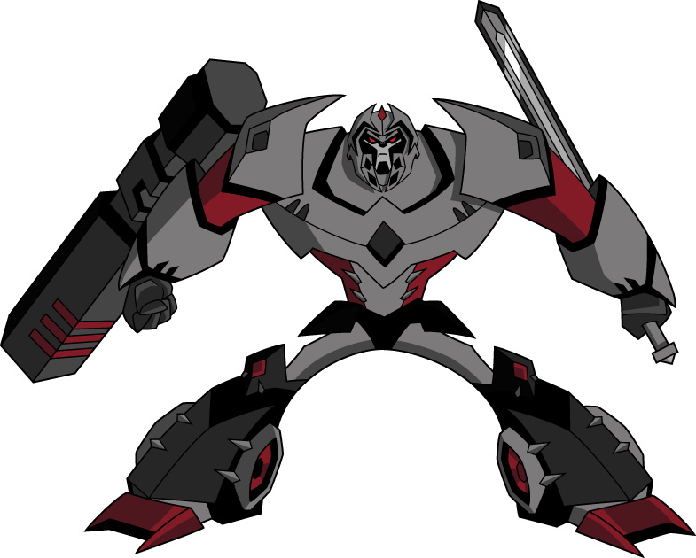 Images du design des personnages de Transformers Animated MEGATRON%20POSE%202