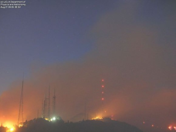 Californie : un incendie menace le JPL Mt.-Wilson-Fire-580x435