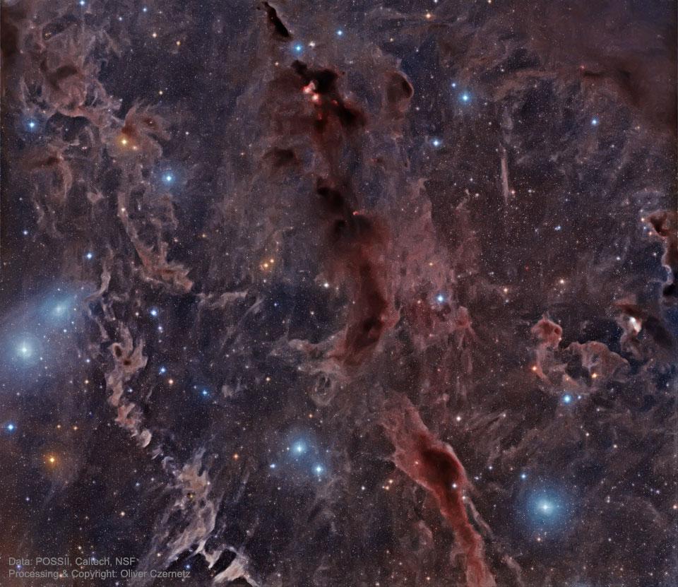 Stelle Costellazioni Nebulose Buchi Neri DarkNebulas_POSS2Czernetz_960