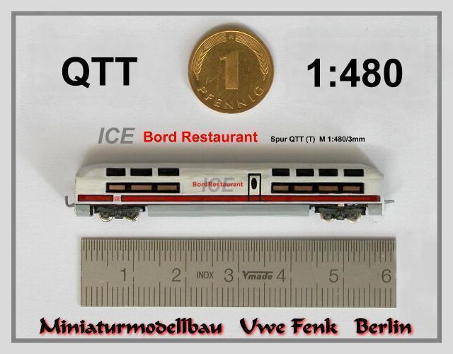 Najmanji vlakovi na svijetu: mjerilo T ICE-BordRestaurant-QTT