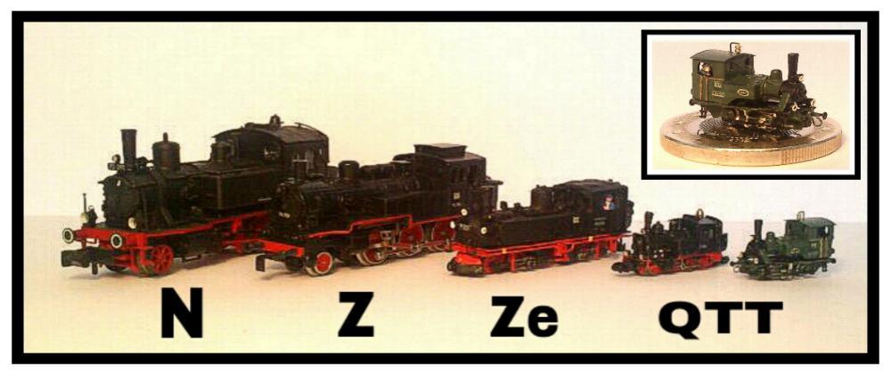 Najmanji vlakovi na svijetu: mjerilo T T-Gauge-im-Vergleich