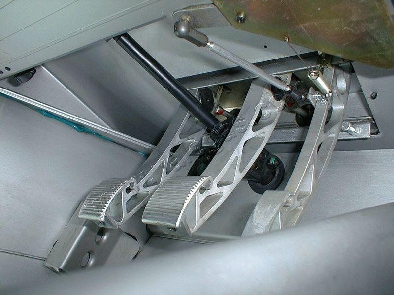 Pedaliera in alluminio Pedaliera