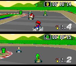 Sprites en 2D dans un monde en 3D Super_Mario_Kart_01