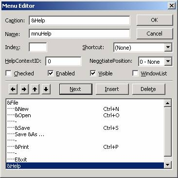 الدرس السادس عشر ...أنشاء القوائم menu, و أشرطة الادوات Toolbar !!! Image018