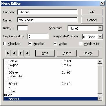 الدرس السادس عشر ...أنشاء القوائم menu, و أشرطة الادوات Toolbar !!! Image019