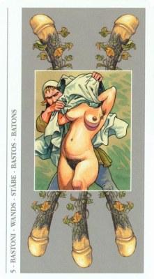 DECAMERON TAROT галерея таро и значения  - Страница 2 Wands05