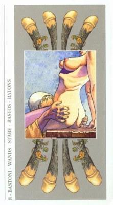 DECAMERON TAROT галерея таро и значения  - Страница 2 Wands08